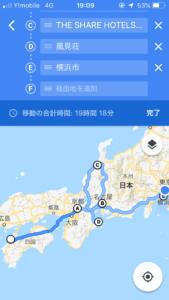 鈍行ルート@googlemap